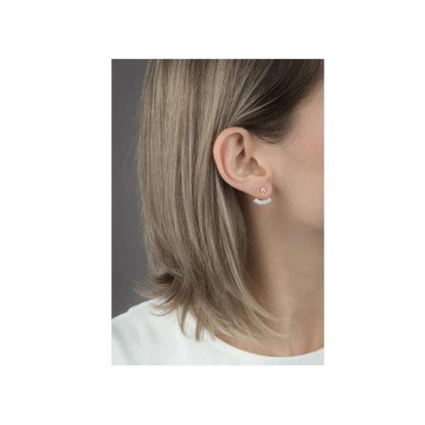 1689394 brinco ear cuff ponto de luz de zirconia folheado a ouro marca sabrina loja brilho folheados foto modelo 1