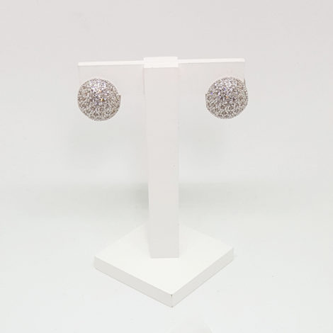 R1689217 brinco bola bipartida zirconias brancas brilho folheados sabrina joias