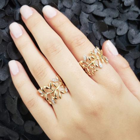 1910654 anel folhas com zirconia sabrina joias brilho folheados