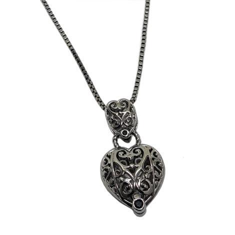 1800510 4E45 colar coracao duplo rendado tiffany inspired joia folheada rodio negro brilho folheados sabrina joias