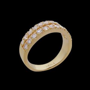 anel alianca 2 filetes zirconia swarovski folheado ouro 18k semijoia brilho folheados 1