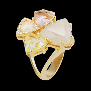 anel 4 pedras cristal coloridas zirconias swarovski semijoia bruna brilho folheados 1
