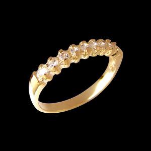 anel aparador alianca pedras zirconia folheado banhado 3 camadas ouro 18k semijoia bruna brilho folheados 1