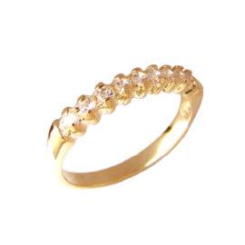 anel aparador alianca pedras zirconia folheado banhado 3 camadas ouro 18k semijoia bruna brilho folheados