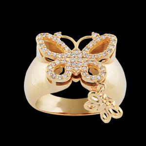 anel borboleta zirconias swarovski pingente semijoia bruna brilho folheados 1