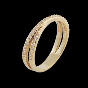 anel cruzado aparador alianca pedra zirconia swarovski semijoia bruna brilho folheados 1