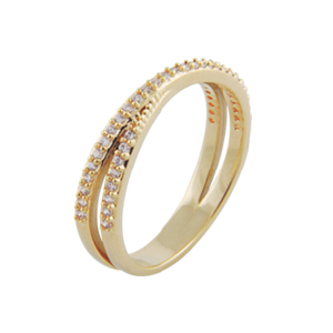 anel cruzado aparador alianca pedra zirconia swarovski semijoia bruna brilho folheados