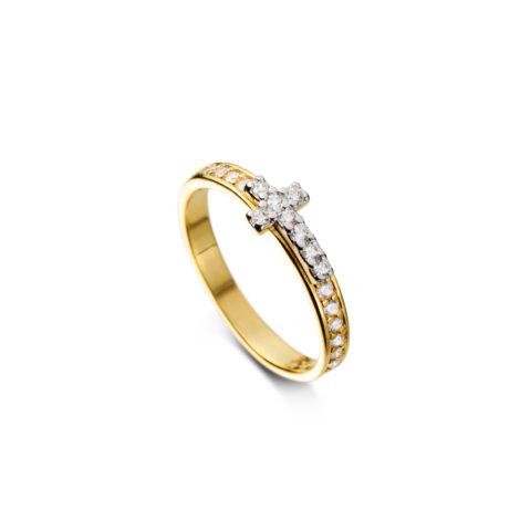 anel delicado cruz falange 1910309