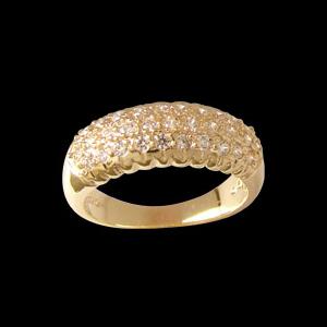 anel feminino abaulado pedras zirconia folheado banhado 3 camadas ouro 18k brilho folheados bruna semi joia 1