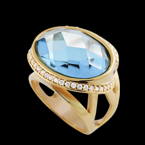 anel pedra cristal oval azul cintilante zirconias swarovski lateral semijoia bruna brilho folheados 1