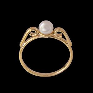anel princesa infantil perola folheado banhado 3 camadas ouro 18k semijoia bruna brilho folheados 1