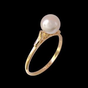 anel princesa perola folheado banhado 3 camadas ouro 18k semijoia bruna brilho folheados 1
