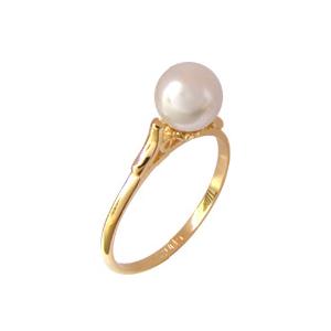anel princesa perola folheado banhado 3 camadas ouro 18k semijoia bruna brilho folheados