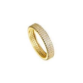 anel rodeado zircônia swarovski folheado banhado ouro 18k semijoia sabrina brilho folheados