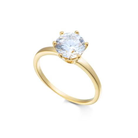 anel solitario fino delicado folheado banhado ouro dourado pedra zirconia semijoia antialergica nickel free sabrina joias brilho folheados 1999200