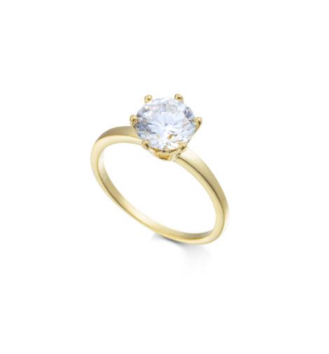 anel solitario fino delicado folheado banhado ouro dourado pedra zirconia semijoia antialergica sem niquel sabrina joias brilho folheados 1999200