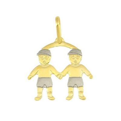 pingente canga 2 meninos folheado ouro 18k linha mamae semijoia brilho folheados