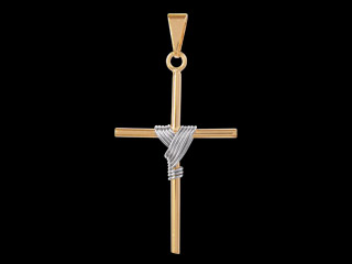 pingente cruz manto ouro branco folheado ouro 18k semijoia bruna brilho folheados foto preta