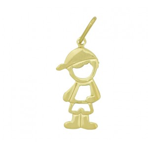 pingente menino vazado folheado ouro 18k brilho folheados