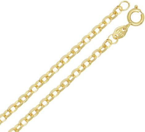 Corrente masculina elo oval cadeado folheado banhado 3 camadas ouro 18k semijoia brilho folheados