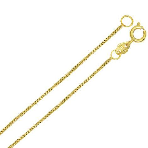 Corrente veneziana fina folheada banhada ouro brilho folheados sabrina joias 4E45
