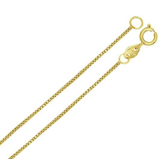 Brilho Folheados - Corrente Veneziana 45 cm Folheada a ouro dca797f6e8