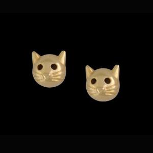 brinco infantil gatinho folheado banhado ouro 18k semijoia bruna brilho folheados 1