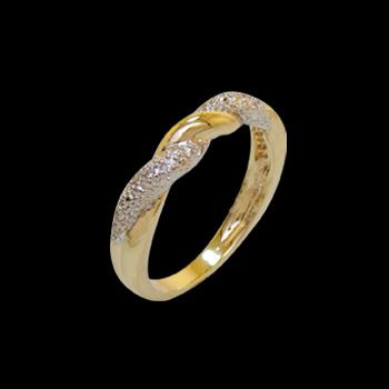anel alianca fina torcida com zirconia folheado ouro 18k niquel free semijoia bruna brilho folheados 1
