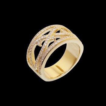 anel alianca larga vazado zirconia swarovski folheado ouro 18k niquel free semijoia bruna brilho folheados 1 1