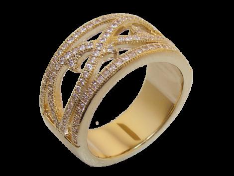 anel alianca larga vazado zirconia swarovski folheado ouro 18k niquel free semijoia bruna brilho folheados 1