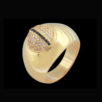 anel bolinha micro zirconia swarovski folheado ouro 18k niquel free semijoia bruna brilho folheados 1
