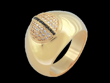 anel bolinha micro zirconia swarovski folheado ouro 18k niquel free semijoia bruna brilho folheados