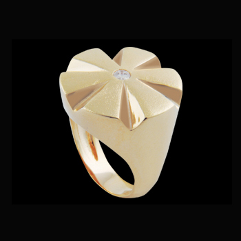 anel flor com zirconia swarovski folheado ouro 18k niquel free semijoia bruna brilho folheados 1