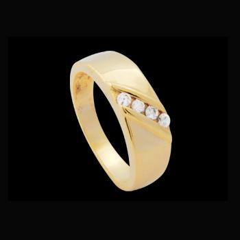 anel folheado ouro 18k com 4 zirconia swarovski niquel free semijoia bruna brilho folheados 1