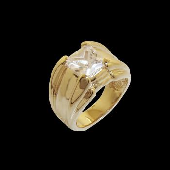 anel largo com zirconia quadrada folheado ouro 18k niquel free semijoia bruna brilho folheados 1