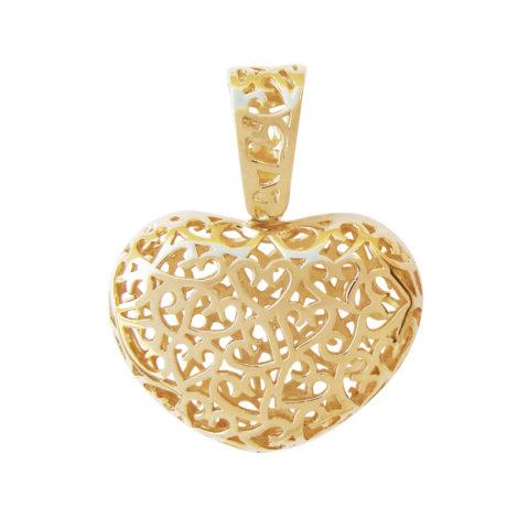 MB1002 pingente maxi coracao rendado marca bruna semijoias folheado ouro antialergico loja revendedora brilho folheados lindo