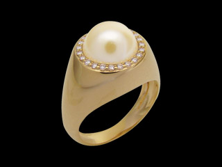 anel meia perola zirconias swarovski folheado ouro 18k antialergico semijoia bruna brilho folheados 1
