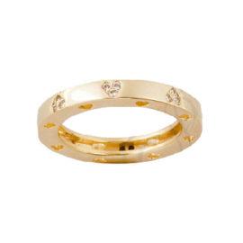 anel varios coracoes zirconia swarovski folheado banhado ouro amarelo 18k semijoia sabrina brilho folheados sem niquel