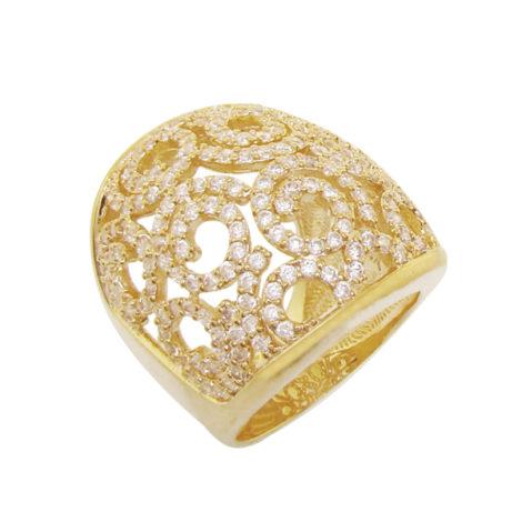 1 maix anel zirconias design caracois folheado ouro 18k semijoia antialergica sem niquel bruna semijoias brilho folheados