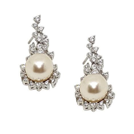 R1689101 brinco de noiva prateado zirconias brancas perola joia folheada sabrina joias brilho folheados