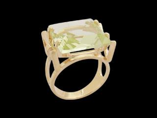 anel quadrado cristal verde folheado banhado ouro 18k dourado semijoia antialergica sem niquel nickel free bruna semijoias brilho folheados colecao Fernanda Machado1
