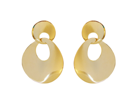 brinco duplo redondo folheado ouro 18k dourado semijoia antialergica sem niquel nickel free bruna semijoias brilho folheados