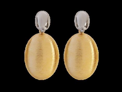 brinco pendulo oval folheado ouro 18k dourado branco rodio semijoia antialergica sem niquel nickel free bruna semijoias brilho folheados