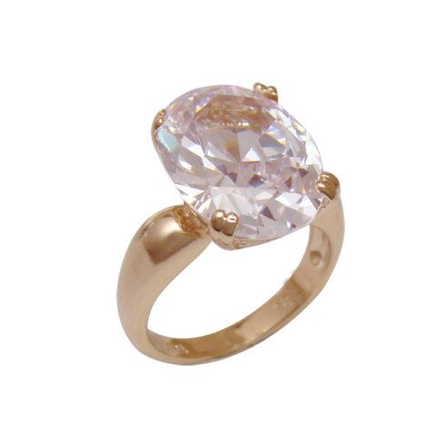 anel zirconia cor cristal oval grande folheado banhado ouro 18k dourado antialergico sem niquel nickel free semijoia bruna brilho folheados AB1604