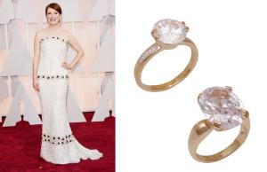 atriz-ganhadora-oscar-2015-Julianne-Moore-usou-aneis-delicados-cristais-dedo-indicador-vestido-branco-chanel-tomara-que-caia-brilho-folheados-bruna-semijoias