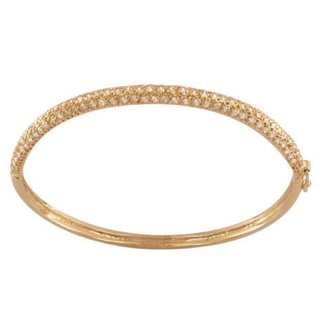 bracelete bipartido cravejado zirconias folheado banhado ouro 18k semijoia antialergica sem niquel nickel free semijoia bruna brilho folheados