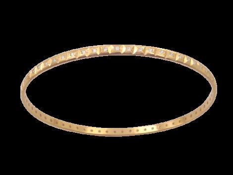 pulseira aro argola cravejada zirconia swarovski folheada banhada ouro 18k dourado semijoia antialergica sem niquel nickel free bruna semijoias brilho folheados BP0259