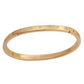 Bracelete Detalhe Fosco com Zircônias