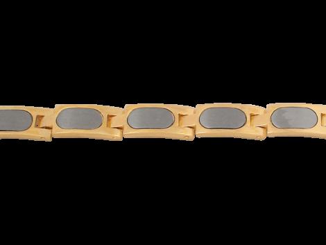pulseira masculina 9 gomos 18cm comprimento inox folheada banhada ouro 18k dourado semijoia antialergica sem niquel nickel free bruna semijoias brilho folheados BP0267