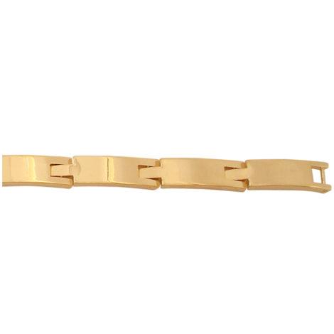 pulseira masculina chapa quadrada elo quadrado folheada banhada ouro 18k dourado antialergica sem niquel nickel free bruna semijoias brilho folheados BP 0200 8
